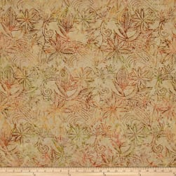 Timeless Treasures Tonga Batik Forest Floor Henna Floral Jute