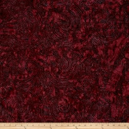 Timeless Treasures Tonga Batik Vineyard Dotty Spiral Plum