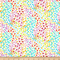 Timeless Treasures Rainbow Madness Rainbow Stars Multi Fabric