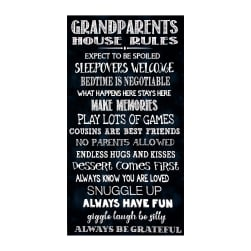 Timeless Treasures 23.5'' Grandparents Rules Panel Black Fabric