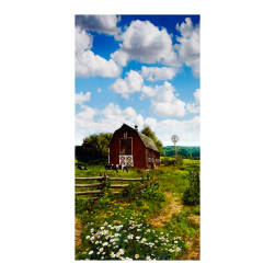 American Byways Single Border Digital Print Country Barn