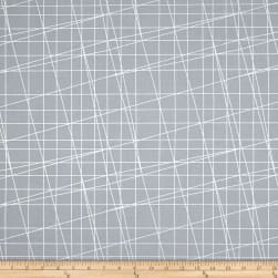 Sparkle & Fade Metallic Box Grid Slate/Silver Fabric