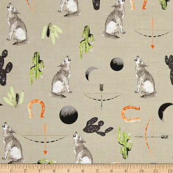 Desert Dawn Coyote Taupe Fabric