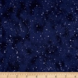 Retro Santa Tonal Speckles Light Navy Fabric