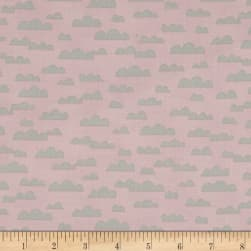 All Afloat Clouds Pink Fabric