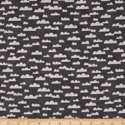 All Afloat Clouds Dark Gray Fabric