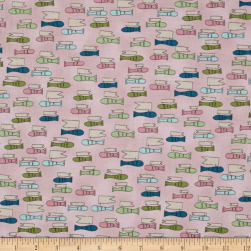 All Afloat Fish Light Pink Fabric