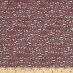All Afloat Bunting Light Wine Fabric