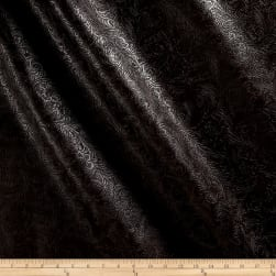 Faux Leather Textured Western Brown Fabric
