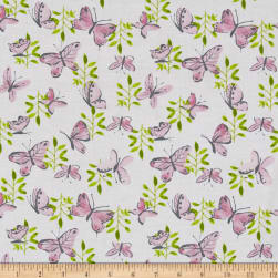 Flutter Tossed Butterflies White