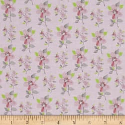 Flutter Tossed Flower Light Pink Fabric