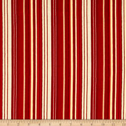 Believe In The Season Stripe Red Fabric