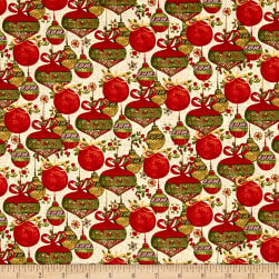 Believe In The Season Ornaments Cream Fabric
