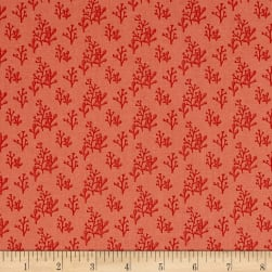 Sail Away Tonal Dark Coral Fabric