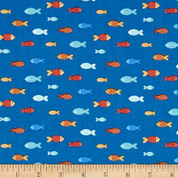 Sail Away Fish Royal Blue