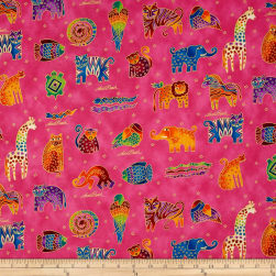 Laurel Burch Mythical Jungle Metallic Animals Directional