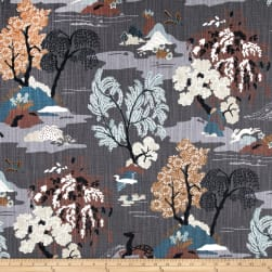 Dwell Studio Modern Toile Graphite Fabric