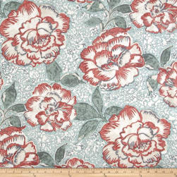 Robert Allen @ Home Peony Bowl Coral Fabric