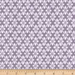 Kanvas Knitty Kitty Flannel Diamond Knit Gray Fabric