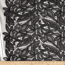 Starlight Mesh Lace Creation Black Fabric