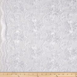 Starlight Mesh Lace Rosedale White Fabric