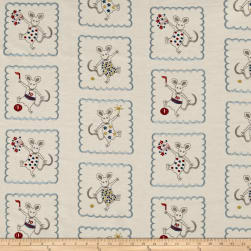 Golding by P Kaufmann Merry Mice Embroidered Fabric