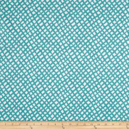 Golding by P Kaufmann Sea Grid Turquoise Fabric