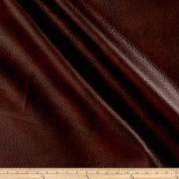 Richloom Tough Faux Leather Longville Mahogany Fabric