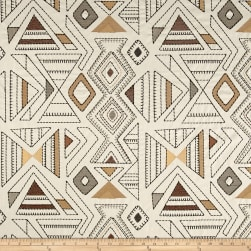 Richloom Barista Embroidered Wheat Fabric