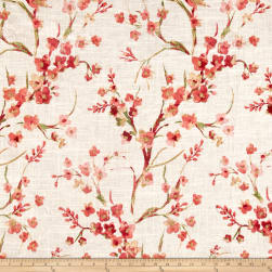 Richloom Posies Linen Coral Fabric