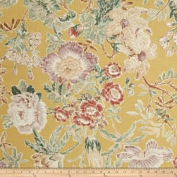 P/Kaufmann Mixed Bouquet Floral Jonquil Fabric