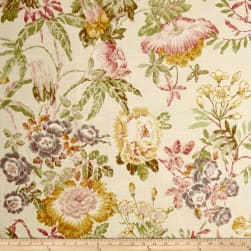 P/Kaufmann Mixed Bouquet Floral Pink Pearl Fabric