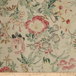 P/Kaufmann Mixed Bouquet Floral Flax Fabric