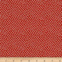 Reindeer Magic Dots Red Fabric