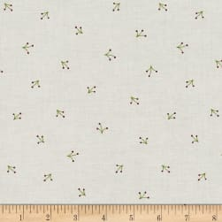 Reindeer Magic Grass Sprigs Cream Fabric