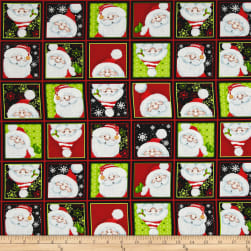Jolly Ole' St. Nick Santa Blocks Multi Fabric