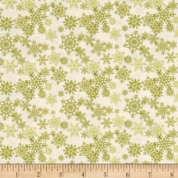 Glad Tidings Snowflakes Cream Fabric