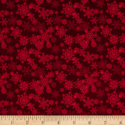 Glad Tidings Snowflakes Red