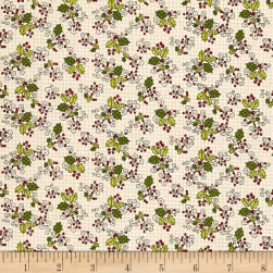 Glad Tidings Holly Cream Fabric