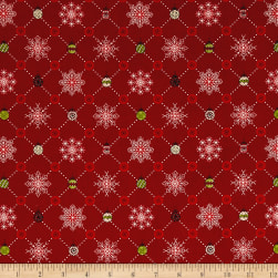 Glad Tidings Plaid Red Fabric