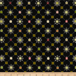 Glad Tidings Plaid Black Fabric
