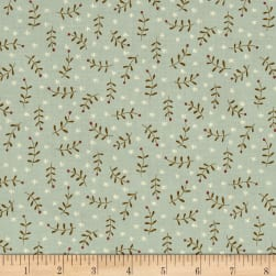 Celebrating Christmas Sprig Toss Light Blue Fabric