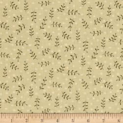 Celebrating Christmas Sprig Toss Tan Fabric