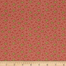 Celebrating Christmas Large Snowflakes Pink Fabric