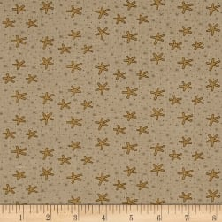 Celebrating Christmas Large Snowflakes Taupe Fabric