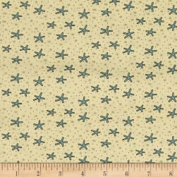 Celebrating Christmas Large Snowflakes Cream Fabric