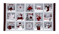 "Holiday Homecoming 23"" Christmas Panel Multi"