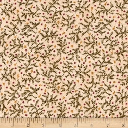 Kim Diehl Winter Cheer Flannel Branches And Stars Cream Fabric