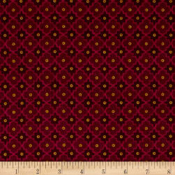 Kim Diehl Winter Cheer Flannel Lattice Red
