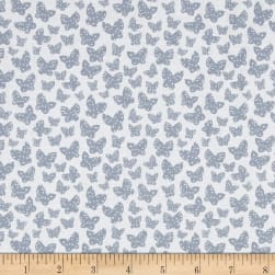 Lotta Jansdotter Lilla Minna Grey Blue Fabric